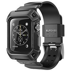 [ unicorn Beetle Pro] - Custodia Protettiva Robusta Con Cinturino Per Apple Watch, Nero