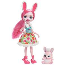 Enchantimals Bambola Bree il Coniglietto + amico cucciolo