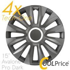 Copricerchi Auto Universali 15 Pollici Tech-one Avalone Pro Dark 31532