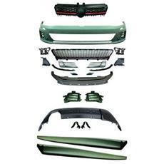 Kit estetico paraurti Minigonne Tuning sportivi VW Golf VII 12- Look GTI berlina per lavafari no