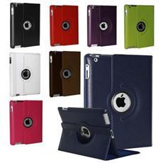 Cover Custodia Per Ipad Air 1-2 Apple Compatibile Eco Pelle 360 Gradi Business - Blu