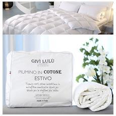 Delicato E Confortevole Piumino Estivo In Cotone 80 Gr / m² Lavorazione Artigianale (matrimoniale 255x200)