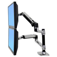 Braccio LX Dual per Montaggio da Tavolo con un Notebook e 1/2 LCD