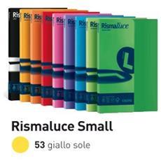 conf. 100 Carta colorata 90g Rismaluce giallo sole A69B144