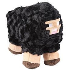 Figura Peluche Pupazzo Minecraft Plush Figure Black Sheep 25 Cm