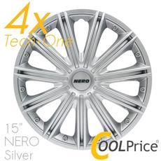 Copricerchi Auto Universali 15 Pollici Nero Tech-one Silver 31512