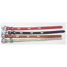 Collare Con Fibbia Ossi 35x1.5 Cm Ecopelle Eco Pelle Per Cani Cane Cintura Regolabile Animali Accessori Colore Casuale
