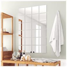24 Pz Piastrelle A Specchio Quadrate In Vetro