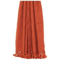 Boden Copriletto A Maglia Con Nappe Decorative (150 X 200cm) (arancio)
