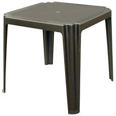 Tavolo Giardino Madison 75x75 Cm Rattan Antracite Pallet 16 Pezzi
