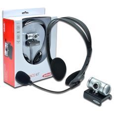 Kit Conferenza 1 Cuffia Con Microfono E 1 Webcam Ednet
