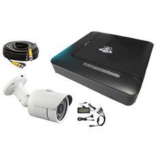 Kit Videosorveglianza 4 Canali Ahd 720p 1mpx