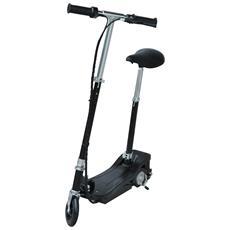 Monopattino Scooter Elettrico per Bambini con Sedile Pieghevole e Velocità Regolabile Max 12KM / H - Nero