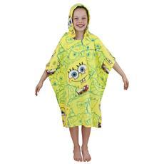 Coperta Avvolgente A Poncho Immagine Spongebob Bambino (70cm X 160cm) (giallo)