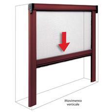 Zanzariera in alluminio a molla per porte e finestre 100x170 marrone