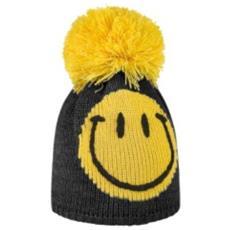 Cappello Bambino Smile Pompon Unica Nero Giallo