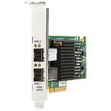 Hewlett Packard Enterprise Ethernet 10Gb 2-port 557SFP+, Cablato, PCI-E, Fibra, 10000 Mbit / s, Emulex XE-100, IEEE 802.1Q, IEEE 802.3, IEEE 802.3ab, IEEE 802.3ad, IEEE 802.3ae, IEEE 802.3u, IEEE 802.3x