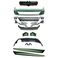 Kit estetico paraurti Minigonne Tuning sportivi VW Golf VII 12- Look GTI berlina per lavafari pe