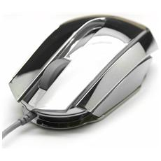 Mouse gaming EMS617 Mood Silver USB 2500 Dpi Argento