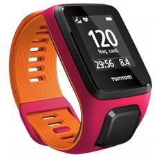 Sportwatch Runner 3 GPS Ipermeabile 5 ATM con Bluetooth Cardiofrequenzimetro Integrato Taglia S Colore Arancione / Rosa