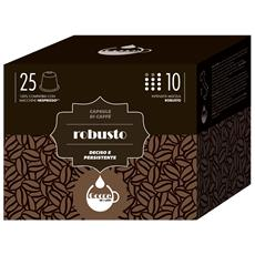 GOCCE DI CAFFE - Aroma ROBUSTO - 25 Capsule Compatibili Con Tutte...