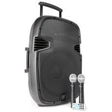 Cassa Amplificata Attiva 700 Watt Bluetooth Woffer 38 CM Ricaricabile Trolley