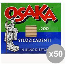 Set 50 Stuzzicadenti 200 Pezzi Osaka Accessori Per La Casaavola