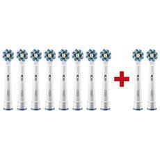 Oral-B Testina di ricambio Cross Action 8pz + 2