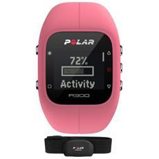 A300 Orologio Fitness e Activity Monitor Bluetooth con Cardiofrequenzimetro Calorie e Sonno + Sensore di Frequenza H7 - Rosa