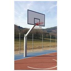 Mf4211 impianto basket minibasket monotubo sbalzo 165 cm canestro pallacanestro