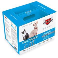 Salmone Exquisite - Multipack Rikarica 2 Kg (4 Confezioni Da 500 G) Gatti Adulti