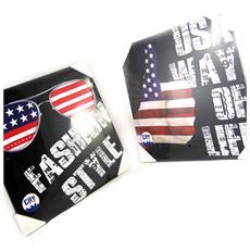 set di 2 panni 'america' nero multicolor (40x40 cm) - [ m2199]
