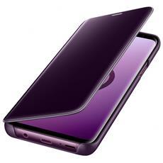 Flip Cover Custodia Clear View Standing per Galaxy S9+ colore Viola