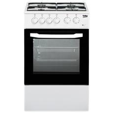 Cucina Elettrica CSS42014FW 4 Fuochi a Gas Forno Elettrico Classe B Dimensioni 50 x 50 cm Colore Bianco