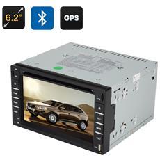 "Autoradio 2 DIN Windows Ce 6.0 GPS Touch Screen 6.2"" Interfaccia 3D Radio FM BT"