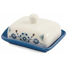 Marocco Burriera, Ceramica, Bianco / celeste, 13.5x18x9 Cm