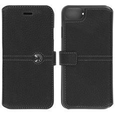 Custodia Portafoglio Effetto Granulato Apple Iphone 7 E 8 - Façonnable - Nera