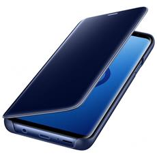 Flip Cover Custodia Clear View Standing per Galaxy S9+ colore Blu