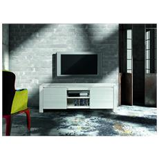 Porta Tv Abete Bianco Spazzolato Cm. 165x45