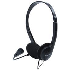 Sound One Stereofonico Padiglione auricolare Nero cuffia e auricolare