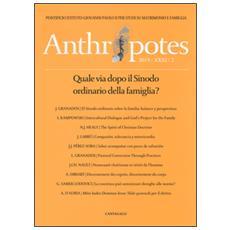Anthropotes. Rivista di studi sulla persona e la famiglia (2015) . Vol. 31 Anthropotes. Rivista di studi sulla persona e la famiglia (2015)