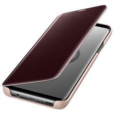 Flip Cover Custodia Clear View Standing per Galaxy S9+ colore Oro