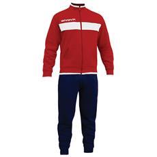 Tuta Drops Givova Completo Di Giacca Con Zip Manica Lunga E Pantalone Colore Rosso / blu Taglia M