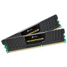 CORSAIR - Memoria Dimm Vengeance Low Profile 16 GB (2 x 8GB) DDR3 1600 MHz CL10 Dissipatore Nero
