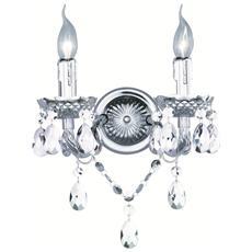 Applique Luster, 2x40w, L. 27xp. 16xh. 32 Cm, E14 Cromo