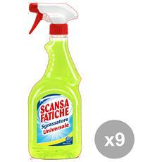 Set 9 Sgrassatore Universale Trigger 750 Ml. Deterge