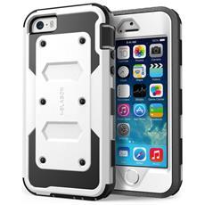 Cover Apple Iphone Se / 5s / 5, Protezione Slim [ armorbox] Custodia Protettiva Di Tutto Il Corpo, Con La Copertura Anteriore E Protezione Integrata Dello Schermo / Resistente Agli Impatti Paraurti (Bianco)