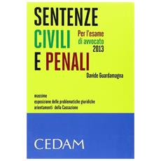 Sentenze civili e penali per l'esame di avvocato 2013. Massime, esposizione delle problematiche giuridiche, orientamenti della Cassazione