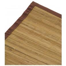 Tappeto Bambu Bamboo Cm70x140 Con Listelle Piccole / Bacchette Sottili Tinta Noce