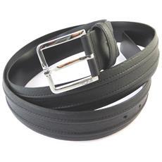 cintura in pelle '' nero - 110 cm 40 mm - [ n9076]